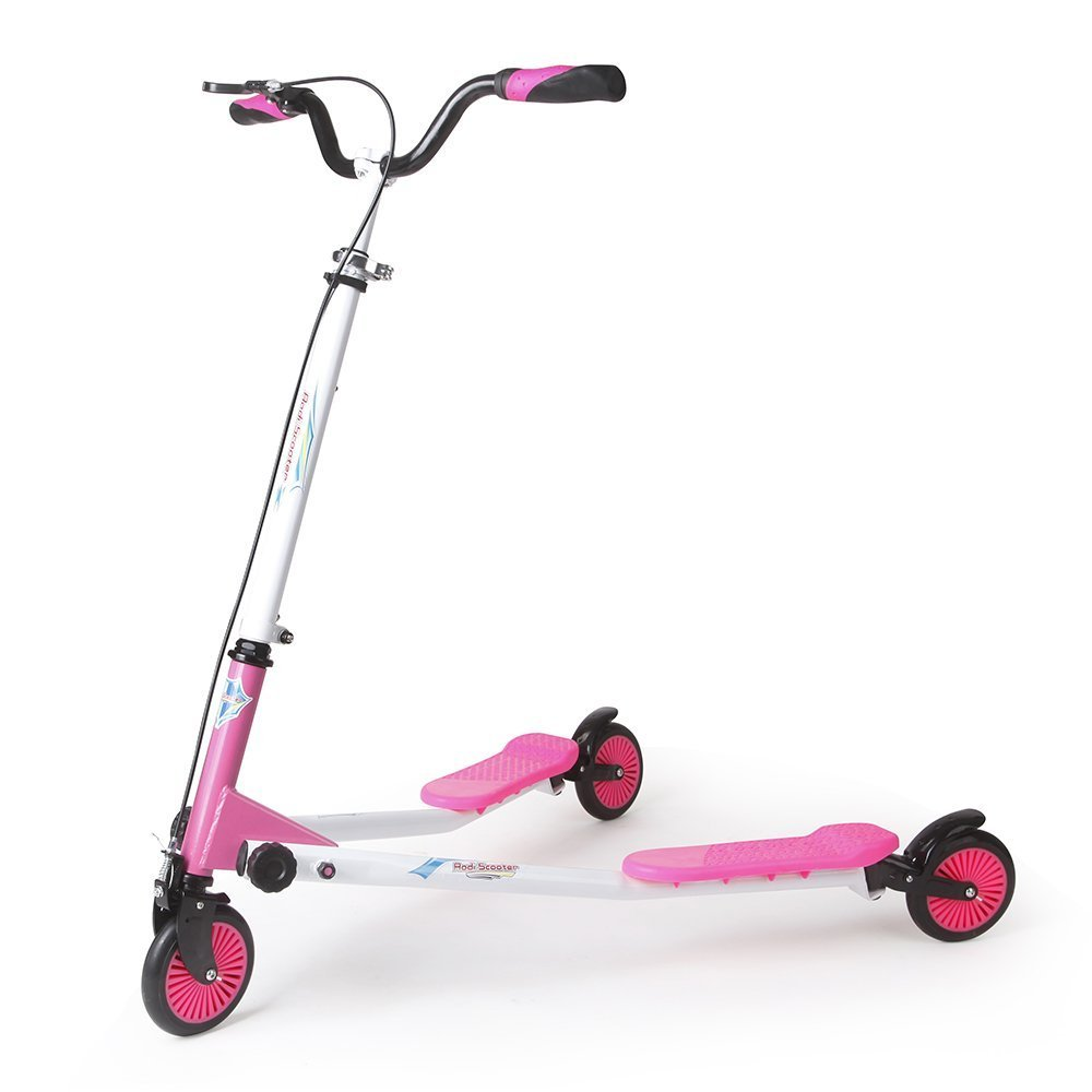 AODI 3 Wheels Scooter Swing Motion Speeder Foldable Kickboard Scooter Air Push Slider Wiggle Scooter Over 7 Year Older - Multiple Colors