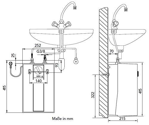 warmwasserspeicher 5l drucklos  untertischspeicher