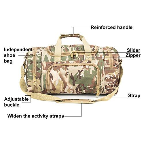 WolfWarriorX Military Tactical Duffle Bag, Large Storage Bag Luggage Duffle for Traveling, Gym, Vacation, Hiking & Trekking (OCP) by WolfWarriorX (Image #3)