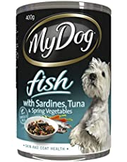 MY DOG Fish with Sardines Wet Dog Food 400g Can 24 Pack