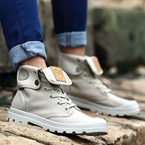 Anti Scivolo Uomini Caldo Sneaker Trekking da da Gomnear Stivali Neve Scarpe Grigio in Tela Cima Inverno Leggero Odwd7xS