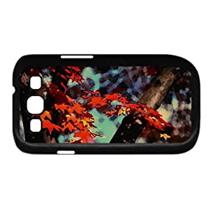 Japanese Maple Watercolor style Cover Samsung Galaxy S3 I9300 Case (Autumn Watercolor style Cover Samsung Galaxy S3 I9300 Case)