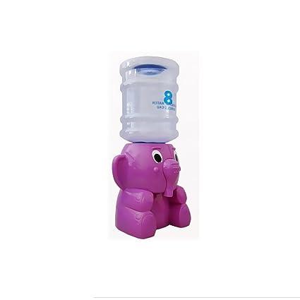 Dispensador de Agua Forma de Mini Elefante Embotellada Presión Regulador Enfriador de Agua - Púrpura