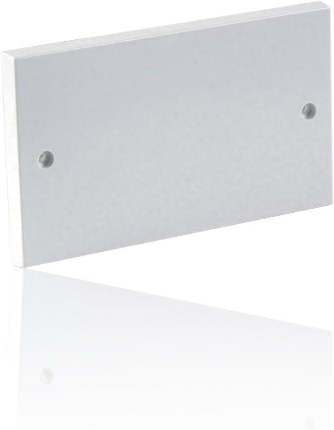 Cache /électrique /à double prise CDL Micro Blanc