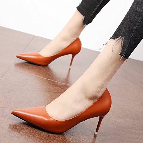 FLYRCX Europäische und Amerikanische einfach und High Heel Schuhe