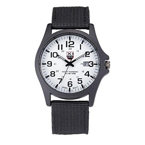 lendar Stainless Steel Military Analog Quartz Army Wrist Watch Outdoor Sports Watch (White) ()