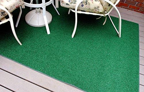 Garland Rug 4' x 6' Artificial Grass Indoor/Outdoor Area Rug, Rectangle, Green (Grass Rug Patio Artificial)