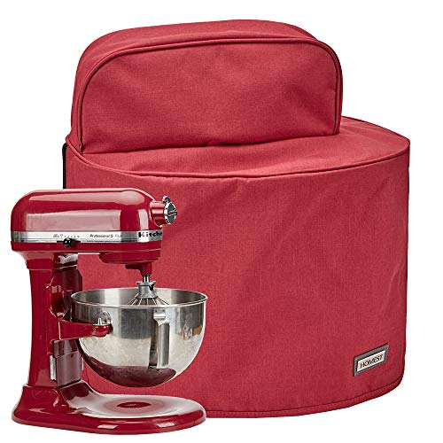 HOMEST Stand Mixer Dust Cover with Pockets Compatible with KitchenAid Tilt Head 4.5-5 Quart, Empire Red