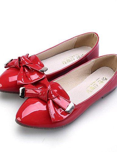 Toe comodidad zapatos mujer talón de Flats red plano PDX casual Toe de eu35 almendra cn34 rojo cerrado us5 rosa vestido uk3 señaló negro p58nw