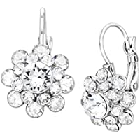 Jewelry.com deals on Crystaluxe Flower Drop Earrings with Swarovski Crystals Brass