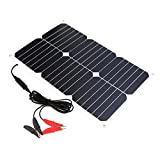 #7: ALLPOWERS Solar Battery Maintaner 18V 18W Solar Car Boat Power Panel Battery Charger Maintainer for Automobile Motorcycle Tractor Boat Batteries