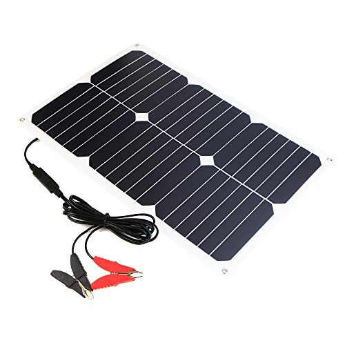 ALLPOWERS Solar Battery Maintaner 18V 12V 18W Solar Car Boat Power Panel Battery Charger Maintainer for Automobile Motorcycle Tractor Boat Batteries