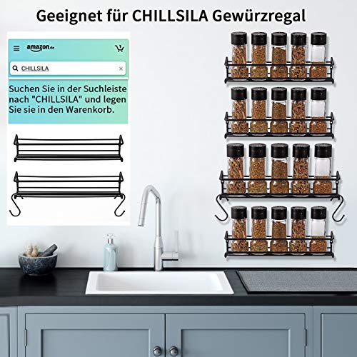 Especiero de cocina autoadhesivo – Estanterías metálicas para especias con 2 estantes – Práctico organizador de especias