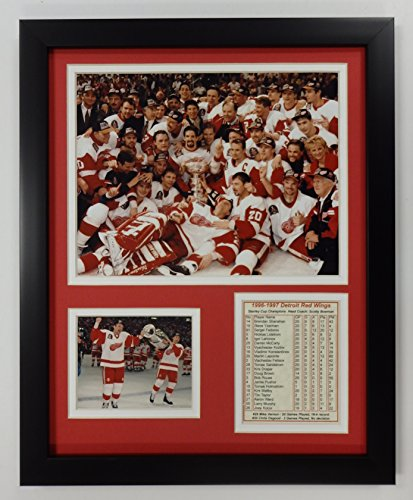 (Legends Never Die NHL Detroit Red Wings 1997 Stanley Cup Champions Double Matted Photo Frame, 12