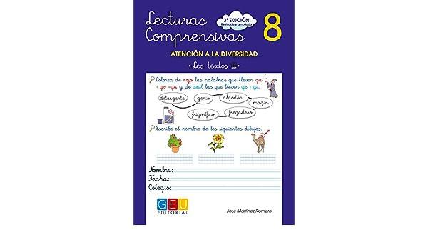 Lecturas comprensivas, 08: José (1962-)  Martínez Romero: 9788499151397: Amazon.com: Books