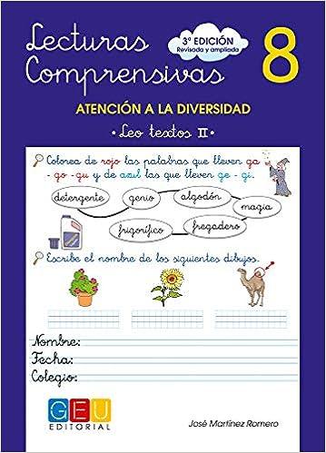 Lecturas comprensivas 8 - Leo Textos II: Amazon.es: José Martínez Romero: Libros