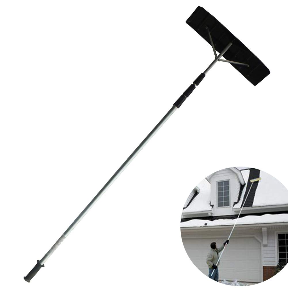 Cacoffay Durable Telescoping Snow Roof Rake Household Winter Roof Snow Removal Tool Suitable for Troops, Schools, Sanitation, Highways, High-Speed Rail, Greenhouses, Etc. by Cacoffay