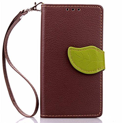 Trumpshop Smartphone Carcasa Funda Protección para Acer Liquid Z520 + Marrón + PU Cuero Caja Protector Billetera con Cierre magnético la Ranura la Tarjeta Choque Absorción Marrón