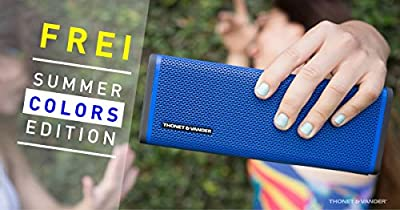 Thonet and Vander Frei Portable Bluetooth Speaker Wireless with Enhanced Bass (50 Peak Watts) Impact + Water Resistant/IPX-4 Shockproof - Rechargeable 8Hr Battery (German Engineered)