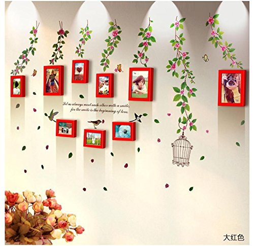 korea-wall-sticker-9-box-pastoral-irregular-solid-wood-box-ideas-7-inch-combination-frame-wall-livin