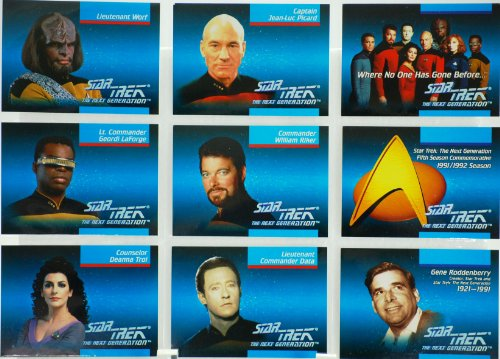 1992 - Paramount / Impel - 120 Vintage Collector Card Set - Star Trek The Next Generation - 5th Season Commemorative Set - Out of Production - Mint - Rare - Limited Edition - Collectible