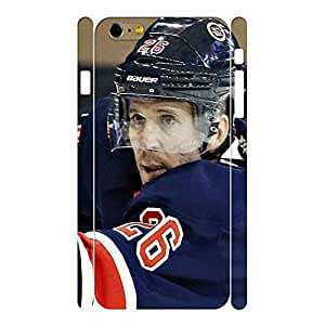 Deluxe Wonderful Hockey Player Action Photo Pattern Skin for Iphone 6 Plus Case - 5.5 Inch
