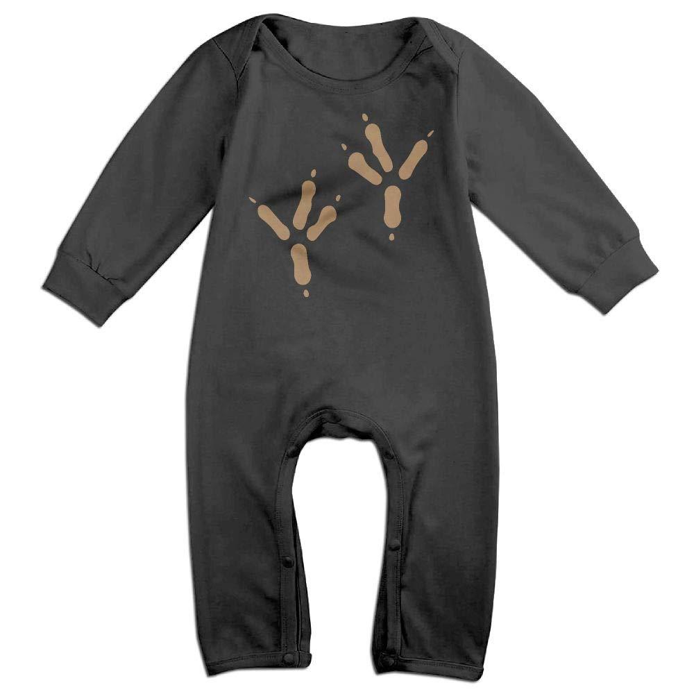 UGFGF-S3 Chicken Feet Cliparts Long Sleeve Newborn Baby Bodysuit for 6-24 Months Bodysuit