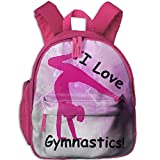 I Love Gymnastics Toddler Kids Backpack Preschool Backpack Pink Mini Backpack