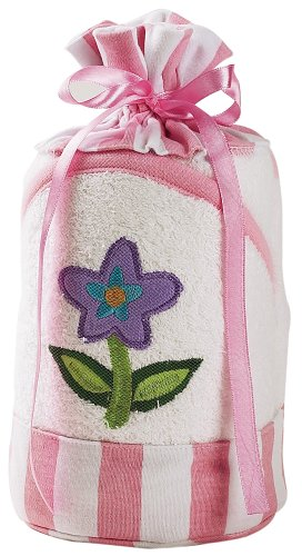 """Elegant Baby """"Grow Little Garden"""" 100% Cotton Hooded Towel And Washcloth Set (Discontinued by Manufacturer)"""