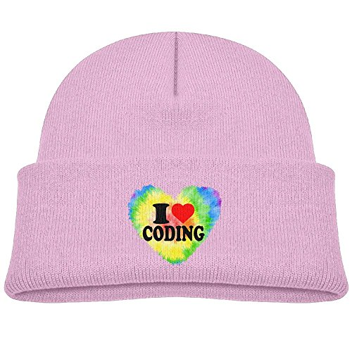 Love Heart Coding Unisex Kids Beanie Caps - To Usps Shipping Malaysia