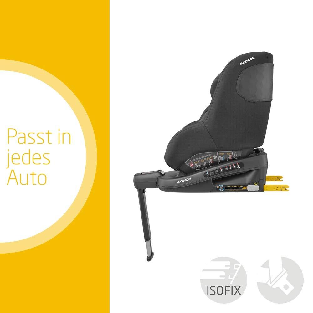 geeignet f/ür jedes Auto dank Installation mit Gurt oder ISOFIX schwarz Maxi-Cosi Beryl Kindersitz 0+//1//2 Autositz Gr vor- und r/ückw/ärts Fahren Authentic Black
