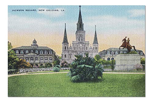 (New Orleans, Louisiana - Jackson Square View (20x30 Premium 1000 Piece Jigsaw Puzzle, Made in USA!))