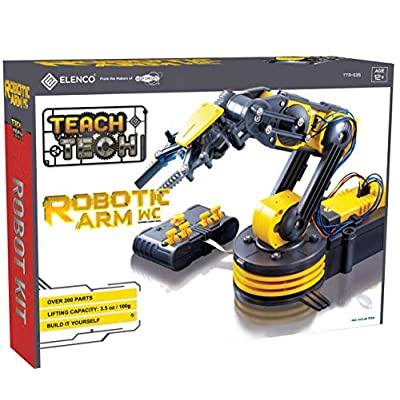 "Elenco Teach Tech ""Robotic Arm Wire Controlled"", Robotic Arm Kit, STEM Building Toys for Kids 12+: Toys & Games"
