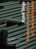 Modern Architecture in Czechoslavia and Other Writings, Karel Teige, 089236596X