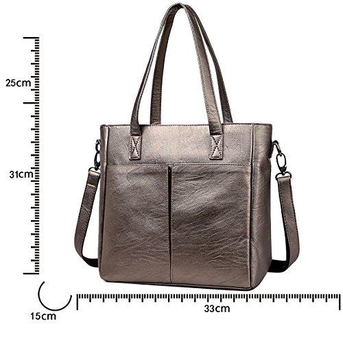 adattano nuovo tote il spalla di Tisdaini donne Bronzo spalla sacchetto grande delle grande di borse di sacchetto di del sacchetto capacità Le di wnxw8OvXI