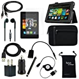 "DigitalsOnDemand ® 14-Item Accessory Bundle for Amazon Kindle Fire HD 7"" Previous Generation - Leather Case, Sleeve Cover, Screen Protector, HDMI Cable, USB Cables + Chargers (will only fit Kindle Fire HD 7"", Previous Generation)"