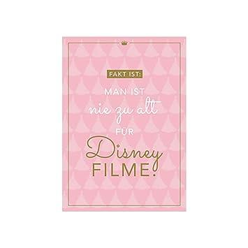 Postkarte Fakt Ist Man Ist Nie Zu Alt Für Disney Filme Amazonde