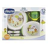 Chicco Geschenkset Mahlzeit, 12+ Monate, 1 Trinklernbecher mit 1 Tellerset flach und tief 1...