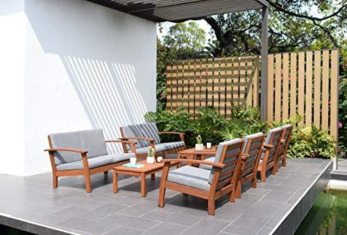 Surprising Amazon Com Brampton Norwalk Outdoor Conversation Set 8 Caraccident5 Cool Chair Designs And Ideas Caraccident5Info