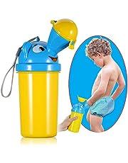 ONEDONE portátil bebé niño orinal orinal higiénico para Camping Viaje para el coche de emergencia y Kid orinal Pee Formación rojo amarillo