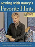 img - for Sewing With Nancy's Favorite Hints: Twenty Years of Great Ideas from America's Most Popular Television Sewing Series book / textbook / text book