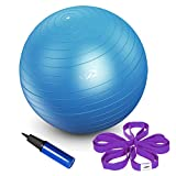 JBM Exercise Yoga Ball with Free Air Pump 200 lbs Slip-Resistant Yoga Balance Stability Swiss Ball for Fitness Exercise