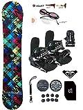 womens 140 snowboard package - Modern Amusement 140cm Santa Monica Snowboard & Symbolic BLK Bindings & Leash, Stomp, Burton dcal Package (Bindings BLK XS (fits 1-5), 140cm Santa Monica (az14))