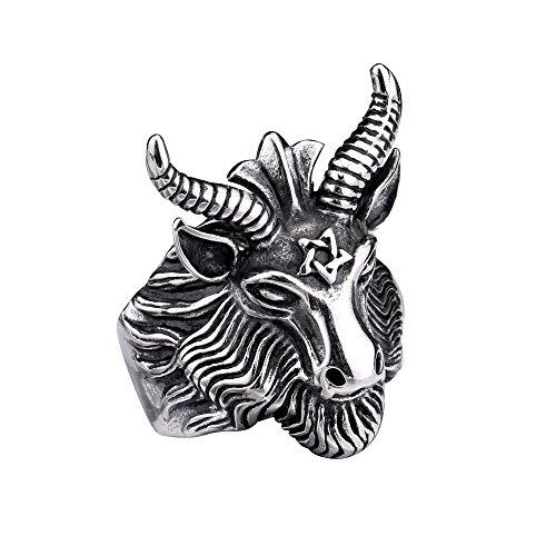 goat head ring - 7