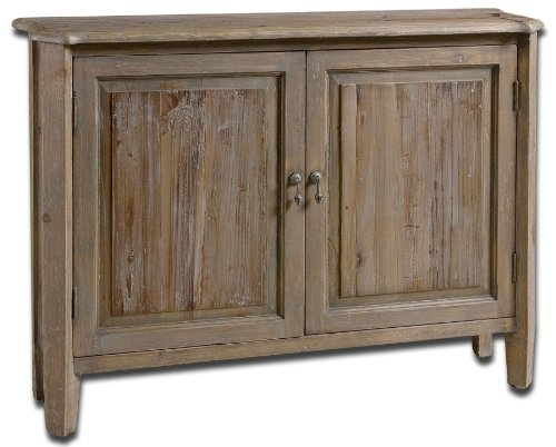 Rustic Distressed Reclaimed Wood Console Cabinet