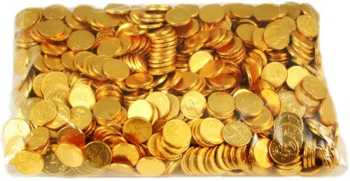 Fort Knox Milk Chocolate Gold Coins - 3 Pound Bulk Bag -