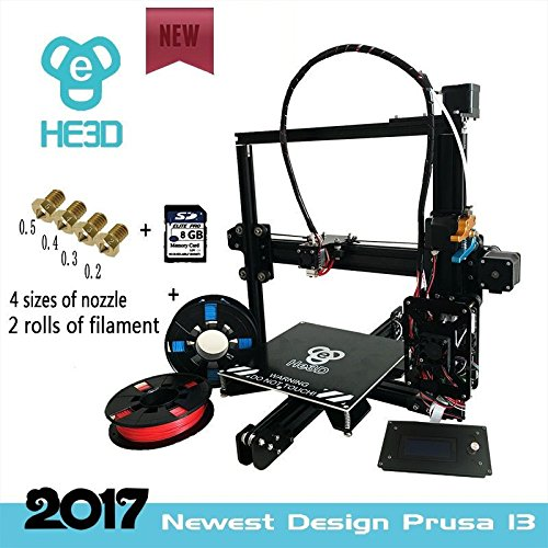 [New] 2017 Upgraded HE3D EI3 3D Single Extruder Printer DYI Kit, Reprap Prusa i3 High Accuracy with Heated Print Bed