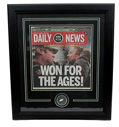 Philadelphia Daily News Front Cover Super Bowl LII Framed Newspaper 131804 from Best Authentics