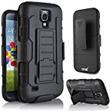 Galaxy S4 Case, Samsung Galaxy S4 I9500 Case, Starshop Full Protection Kickstand Case and Locking Belt Clip With Premium Screen Protector Black