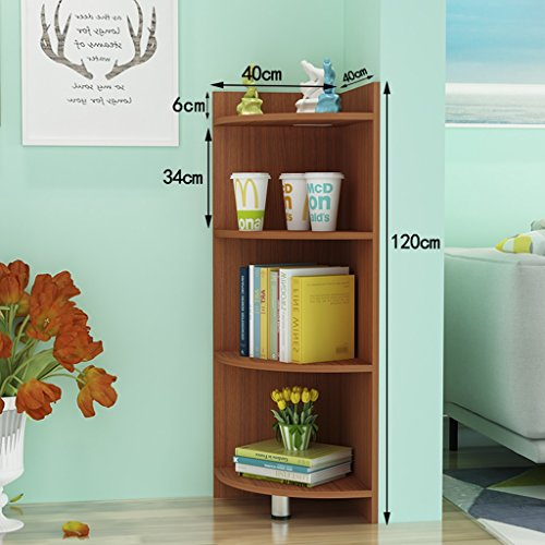 Bookcases Modern Corner Cabinet Simple Dormitory Display Stand Floorstanding Corner Color Optional (Color : Teak color) (Teak Bookcase Cabinet)
